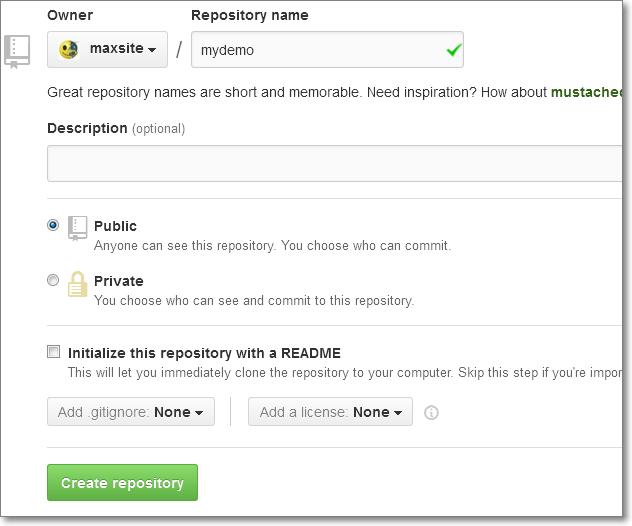 Создание нового репозитория на GitHub