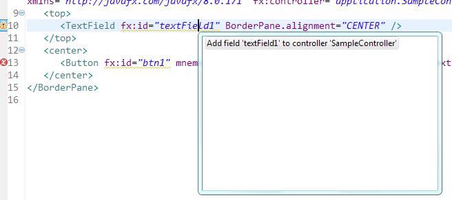 Подсказки для textField1