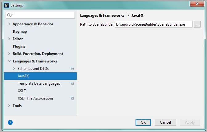 Подключение SceneBuilder в IntelliJ IDEA