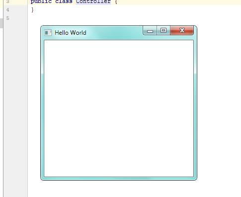 Начальная программа JavaFX в IntelliJ IDEA