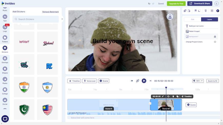 Видео редактор InVideo